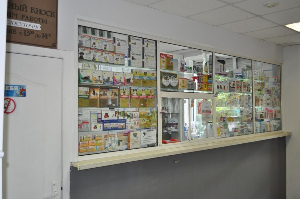 Ветеринарная аптека фирмы Ветзвероцентр в Бабушкинской ветлечебнице